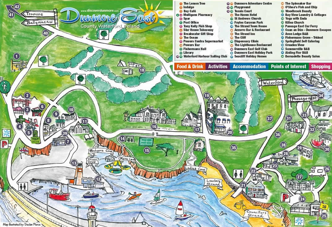Map Of Waterford Ireland.Location The Strand Innthe Strand Inn